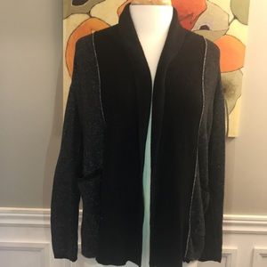 Roots black and grey cardigan size S